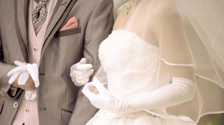 結婚式の新郎新婦