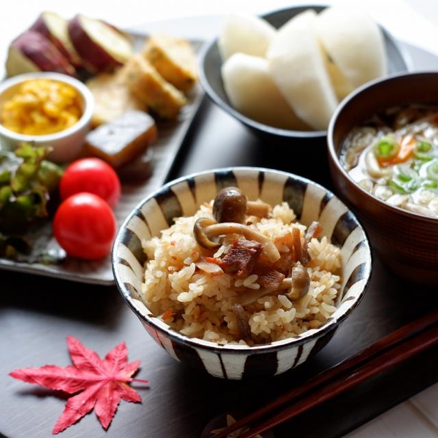季節の食材を使った健康的な食事